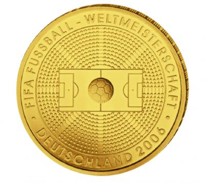 100 Euro Fussball WM 2005 1/2 oz Au