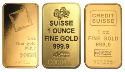 Goldbarren 1 Unze Feingold diverse