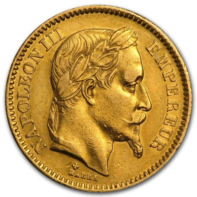 20 Francs Napoleon mit Lorbeerkranz