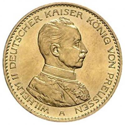 20 Mark Preussen Wilhelm Uniform J. 253