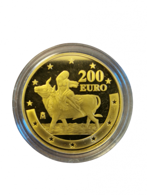 200 Euro Juan Carlos I Europa und Stier Goldmünze
