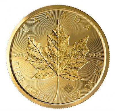 Maple Leaf Incuse 1 Unze 2019