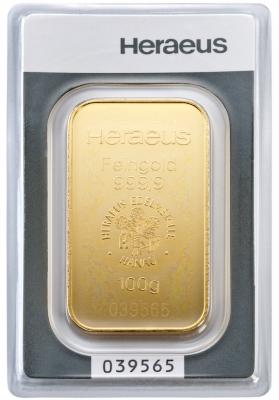 Goldbarren 100 Gramm Feingold | 1110100