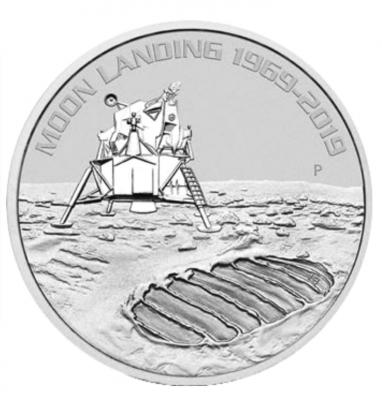 50 Jahre Mondlandung 1 Unze 2019 Silber
