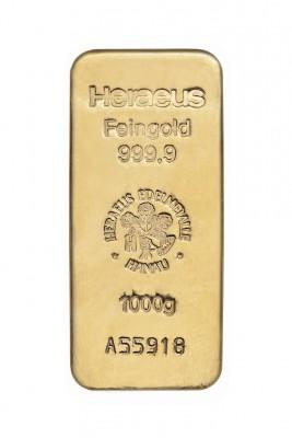 Goldbarren 1 kg zur Lagerung