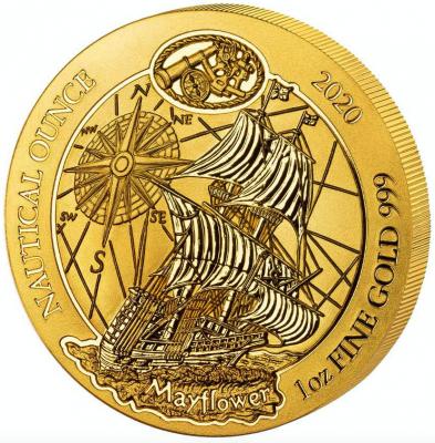 Nautical Ounce Mayflower 2020 1 Unze Gold