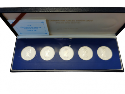 The Coronation Jubilee Crown Coins Proof Satz 1978