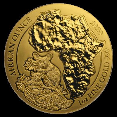 African Ounce Bushbaby Ruanda 1 Unze Gold 2020