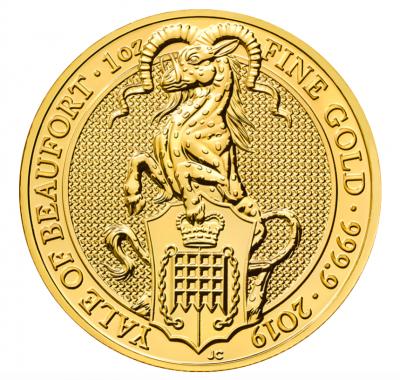Queen's Beasts Yale of Beaufort 1 Unze 2019