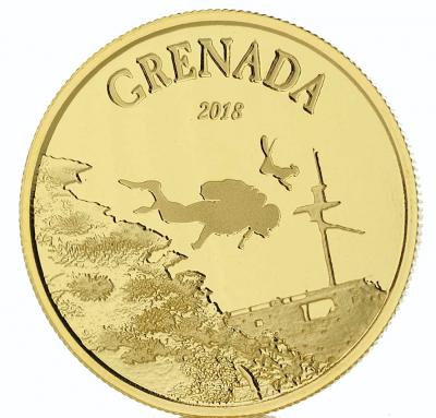 Diving Paradise Grenada 1 Unze 2018