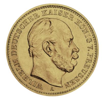 20 Mark Preussen Wilhelm I. Jäger 246