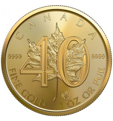 40 Jahre Maple Leaf 1 Unze