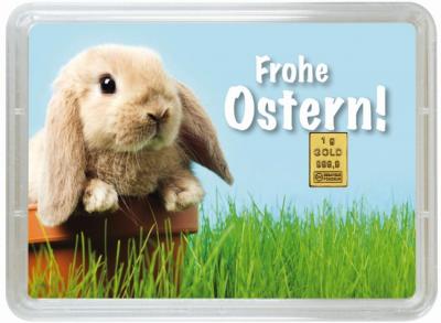 "1 Gramm Geschenkbarren ""Ostern"""